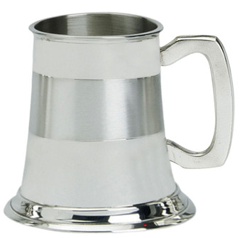 Christening Gift Children's Tankard Pewter Cup Satin Band Ideal for Engraving