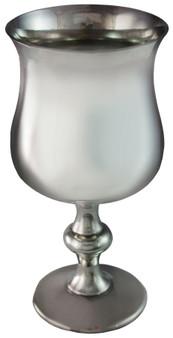 "Stemmed Goblet Pewter Tulip Georgian Shape Medieval Wine Glass 5"" Ideal Gift"
