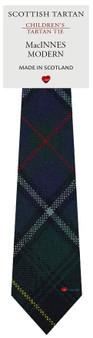 Boys Pure Wool Tie Woven Scotland - MacInnes Modern Tartan