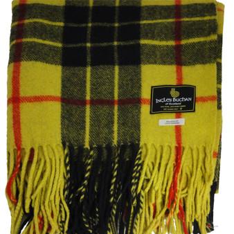 Scottish Tartan Wool Mix Blanket Throw Warm and Soft MacLeod of Lewis Modern Travel Plaid Picnic Knee Wool Rug 182 cm x 152 cm