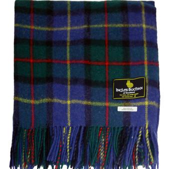 Scottish Tartan Wool Mix Blanket Throw Warm and Soft MacLeod of Harris Modern Travel Plaid Picnic Knee Wool Rug 182 cm x 152 cm