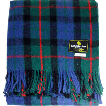 Scottish Tartan Wool Mix Blanket Throw Warm and Soft Gunn Modern Travel Plaid Picnic Knee Wool Rug 182 cm x 152 cm