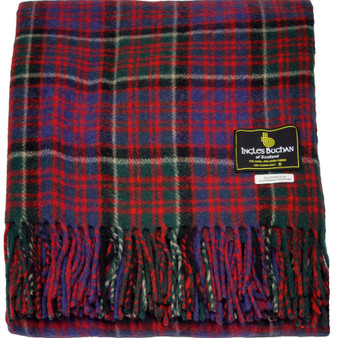 Scottish Tartan Wool Mix Blanket Throw Warm and Soft MacDonald Of Clanranald Travel Plaid Picnic Knee Wool Rug 182 cm x 152 cm