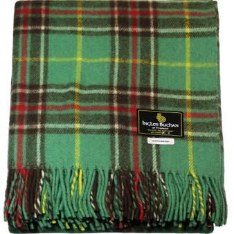 Scottish Tartan Wool Mix Blanket Throw Warm and Soft Newfoundland Travel Plaid Picnic Knee Wool Rug 182 cm x 152 cm