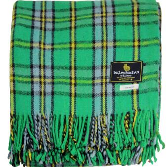 Scottish Tartan Wool Mix Blanket Throw Warm and Soft Stewart Cape Breton Travel Plaid Picnic Knee Wool Rug 182 cm x 152 cm