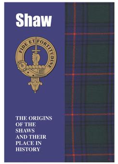 Shaw Ancestry Scottish Clan History Booklet, Scottish Gift