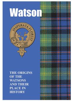 Watson Ancestry Scottish Clan History Booklet, Scottish Gift