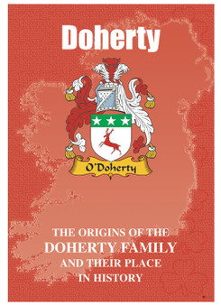 Doherty Irish Ancestry Clan History Booklet Covering the Historical Exploits of this Famous Name