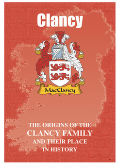 Clancy Irish Ancestry Clan History Booklet Covering the Historical Exploits of this Famous Name