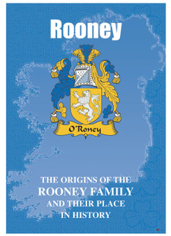 Rooney Irish Ancestry Clan History Booklet Covering the Historical Exploits of this Famous Name