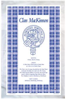 Mackinnon Scottish Clan Tea Towel Scottish Gift, Made in Scotland
