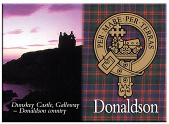 Donaldson Scottish Clan Metallic Picture Fridge Magnet, Made in Scotland