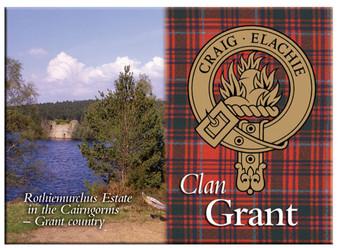 Grant Scottish Clan Metallic Picture Fridge Magnet, Made in Scotland