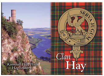 Hay Scottish Clan Metallic Picture Fridge Magnet, Made in Scotland