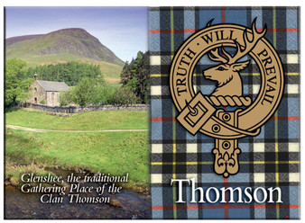Thomson Scottish Clan Metallic Picture Fridge Magnet, Made in Scotland