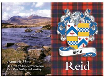 Reid Scottish Clan Metallic Picture Fridge Magnet, Made in Scotland