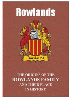 Rowlands Welsh Ancestry Family History Booklet