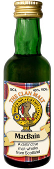MacBain Clan Whisky Collectable Miniature Bottle, Made in Scotland