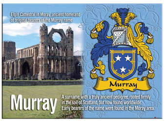 Murray English Ancestry Family Name Metallic Picture Magnet Souvenir Gift