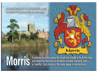 Morris English Ancestry Family Name Metallic Picture Magnet Souvenir Gift