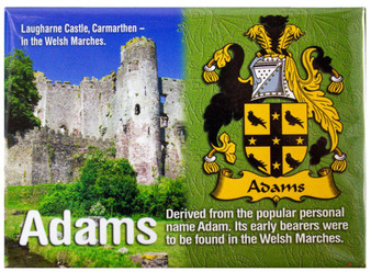 Adams Welsh Ancestry Family Name Metallic Picture Magnet