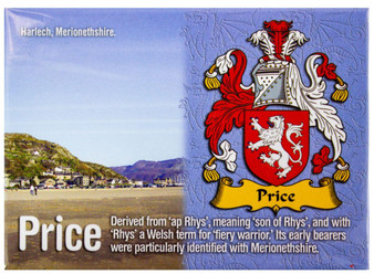 Price Welsh Ancestry Family Name Metallic Picture Magnet