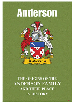 Anderson English Ancestry Family History Booklet with Amazing Facts of this Famous Name