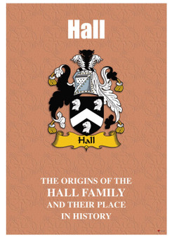 Hall English Ancestry Family History Booklet with Amazing Facts of this Famous Name