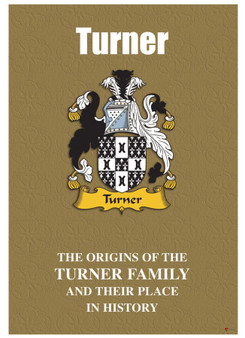 Turner English Ancestry Family History Booklet with Amazing Facts of this Famous Name