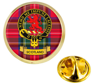 Scottish Clan Lapel Badge Pin Scotland Clan Crest Product Of Scotland Gold Colour