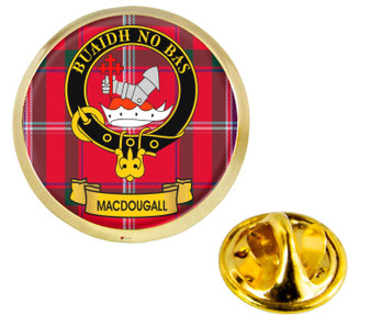 Scottish Clan Lapel Badge Pin MacDougall Clan Crest Product Of Scotland Gold Colour