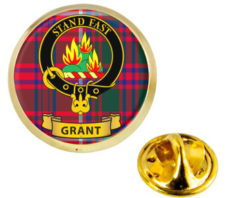 Scottish Clan Lapel Badge Pin Grant Clan Crest Product Of Scotland Gold Colour