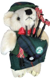 Shaw Clan Musical Teddy Bear, Scottish Gift, Made in Scotland