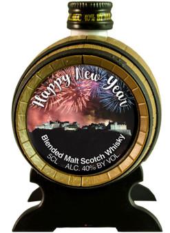 Miniature Malt Whisky Barrel Happy New Year Ideal Christmas Gift