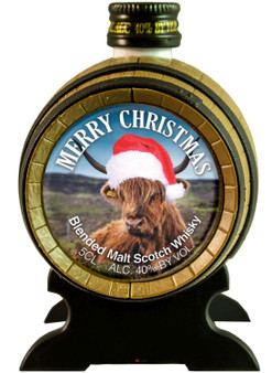 Miniature Malt Whisky Barrel Merry Christmas Hileen Coo Ideal Christmas Gift