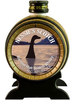 Miniature Malt Whisky Barrel Nessie Scottish Gift