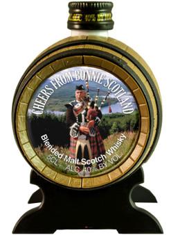 Miniature Malt Whisky Barrel Piper Cheers Scottish Gift