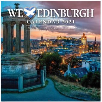 2021 We Love Edinburgh Calendar Small Compact