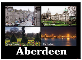 Aberdeen City Image Metallic Magnet