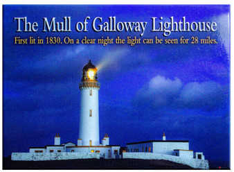 The Mull Of Galloway Lighthouse Scotland Scenic Metallic Magnet