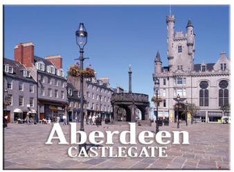 Aberdeen City Castlegate Metallic Magnet