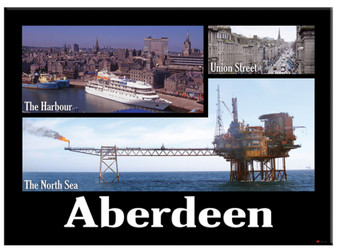 Aberdeen City Port View Metallic Magnet