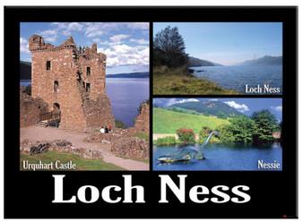 Loch Ness Urquhart Castle Montage Scenic Metallic Magnet