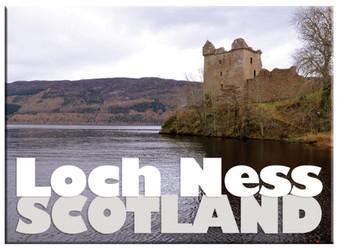 Loch Ness Urquhart Castle Scenic Metallic Magnet