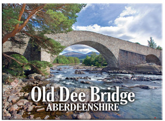 Aberdeen City Old Dee Bridge Metallic Magnet