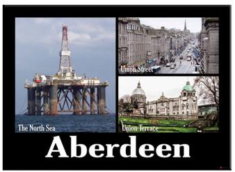 Aberdeen Oil Rig Metallic Magnet