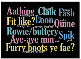 Aberdeen Scottish Traditional Doric Phrases Metallic Magnet