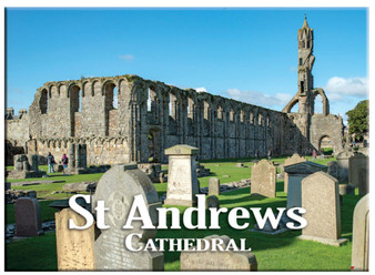 St Andrew's Cathedral Scenic Metallic Magnet