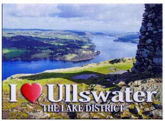 I Love Ullswater The Lake District Picture Metallic Magnet
