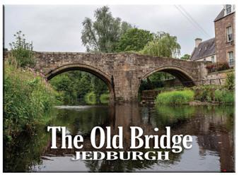 Jedburgh The Old Bridge Picture Metallic Fridge Magnet